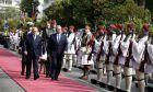 Επίσημη τελετή υποδοχής του Προέδρου της Ομοσπονδιακής Δημοκρατίας της Γερμανίας Γιοακίμ Γκάουκ από τον Πρόεδρο της Δημοκρατίας Κάρολο Παπούλια την Πέμπτη 6 Μαρτίου 2014, στο Προεδρικό Μέγαρο. (EUROKINISSI/ΓΙΩΡΓΟΣ ΚΟΝΤΑΡΙΝΗΣ)
