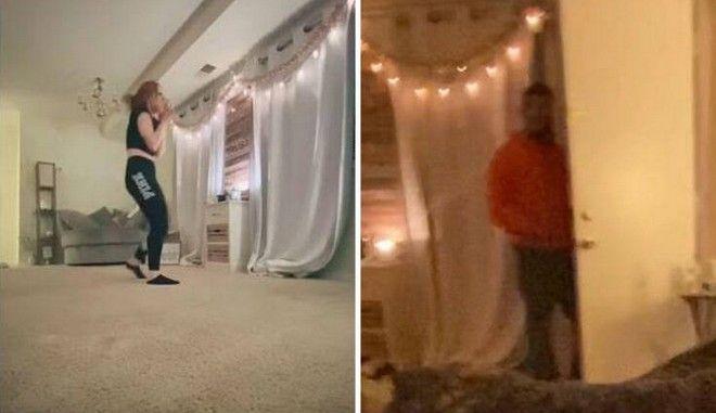Βίντεο τρόμου: Είδε τον stalker εισβολέα την ώρα που χόρευε στο Tik Tok