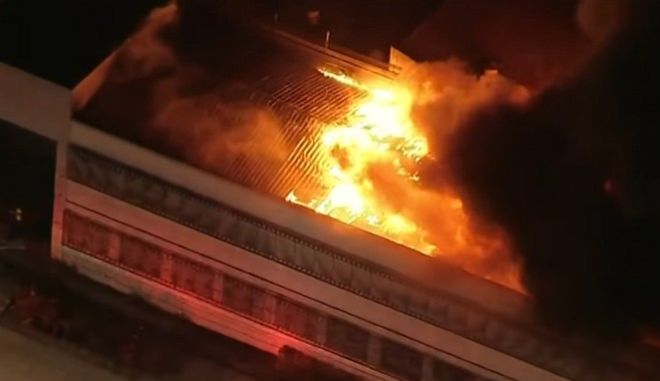 Εικόνα από την μεγάλη πυρκαγιά