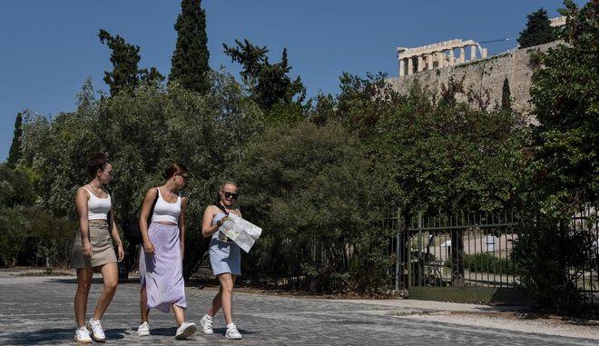 Τουρίστες στην Αθήνα