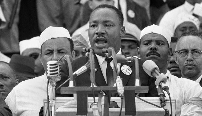 O Μ.Λ. Κινγκ, κατά την διάρκεια της ιστορικής ομιλίας του