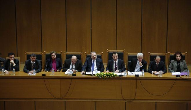 Γενική Συνέλευση της Ένωσης Δικαστών και Εισαγγελέων, το Σάββατο 10 Δεκεμβρίου 2016, στο Εφετείο Αθηνών. (EUROKINISSI/ΣΤΕΛΙΟΣ ΜΙΣΙΝΑΣ)