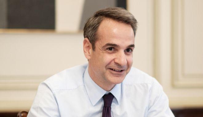 Ο πρωθυπουργός Κυριάκος Μητσοτάκης σε τηλεδιάσκεψη για την Σύνοδο Κορυφής της Ευρωπαϊκής Ενωσης-Δυτικών Βαλκανίων.