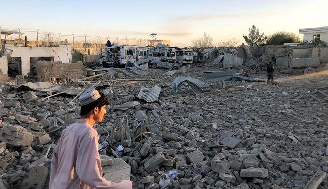 """""""Χτυπημένη"""" περιοχή στο Αφγανιστάν (φωτογραφία αρχείου)"""