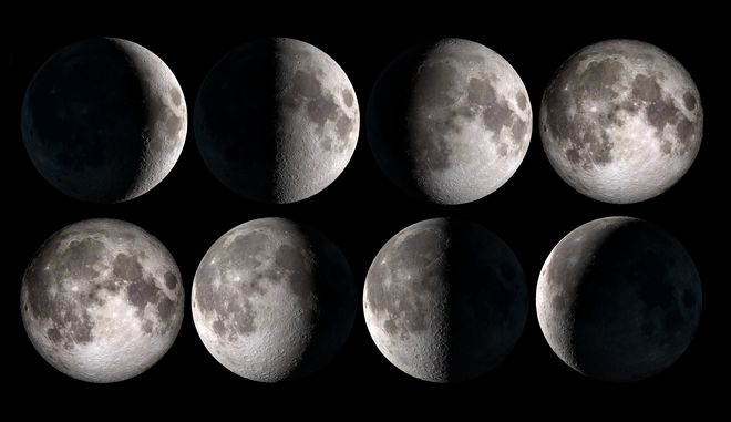 Οι φάσεις της σελήνης