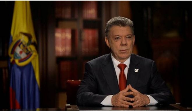 Νόμπελ Ειρήνης στον πρόεδρο της Κολομβίας Juan Manuel Santos