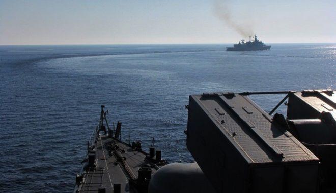 """Πλοία του Πολεμικού Ναυτικού συμμετέχουν στην άσκηση """"ΠΑΡΜΕΝΙΩΝ 2016"""", Τετάρτη 5 Οκτωβρίου 2016(EUROKINISSI/ΓΡ.ΤΥΠΟΥ ΓΕΝ)"""