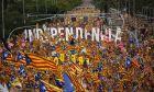 Στους δρόμους ένα εκατ. Καταλανοί για την ανεξαρτησία τους