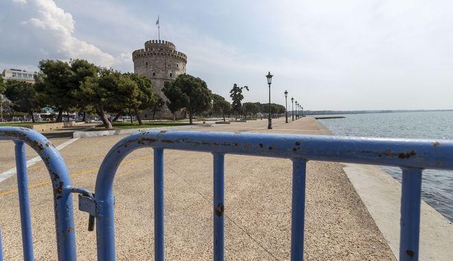 Απαγόρευση κυκλοφορίας στη Θεσσαλονίκη.
