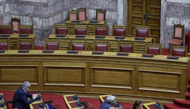 Φωτό αρχείου: Από την συζήτηση για λήψη απόφασης παραπομπής σε προανακριτική του  Δημήτριου Παπαγγελόπουλου