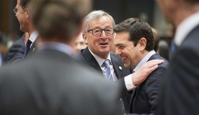 Ο πρωθυπουργός στις εργασίες της Έκτακτης Συνόδου κορυφής της Ευρωπαϊκής Ένωσης για το μεταναστευτικό την Πέμπτη 23 Απριλίου 2015, στις Βρυξέλλες. (ΓΡΑΦΕΙΟ ΤΥΠΟΥ ΠΡΩΘΥΠΟΥΡΓΟΥ/ANDREA BONETTI/EUROKINISSI)