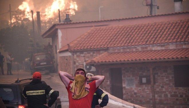 Εκκένωση του χωριού Κοντοδεσπότι, στην Εύβοια την Τρίτη 13 Αυγούστου 2019, εξαιτίας της πυρκαγιάς που ξέσπασε περίπου στις 03:10 τα ξημερώματα και καίει πευκοδάσος Natura.