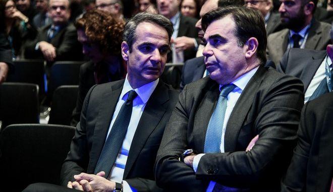 Ο Κυριάκος Μητσοτάκης και ο αντιπρόεδρος της Κομισιόν Μαργαρίτης Σχοινάς