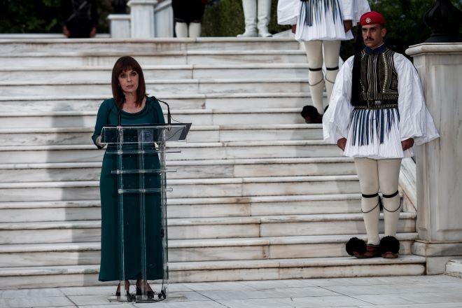 Δεξίωση για την 47η Επέτειο της Αποκατάστασης της Δημοκρατίας, στον κήπο του Προεδρικού Μεγάρου, Σάββατο 24 Ιουλίου 2021.