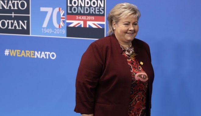 Η η πρωθυπουργός της Νορβηγίας, Έρνα Σόλμπεργκ