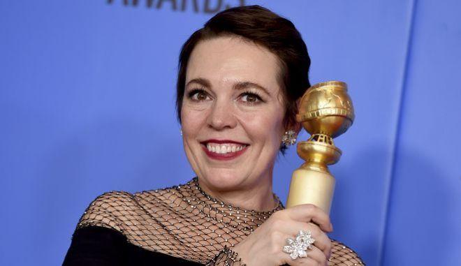 Χρυσές Σφαίρες: Νικήτρια α΄γυναικείου ρόλου στην κατηγορία κομωδία - μιούζικαλ η Ολίβια Κόουλμαν