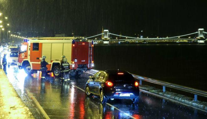 Ναυάγιο ποταμόπλοιου στη Βουδαπέστη