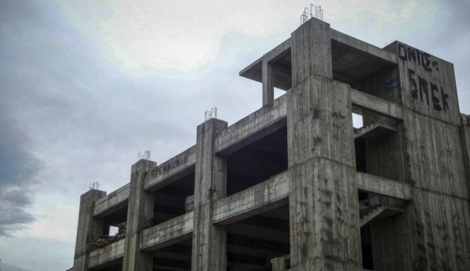 Νεοανεγειρόμενη οικοδομή σε περιοχή της Αττικής