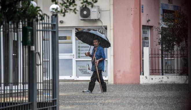 Καρέ από την πρόσφατη έντονη βροχόπτωση στον Πύργο Ηλείας