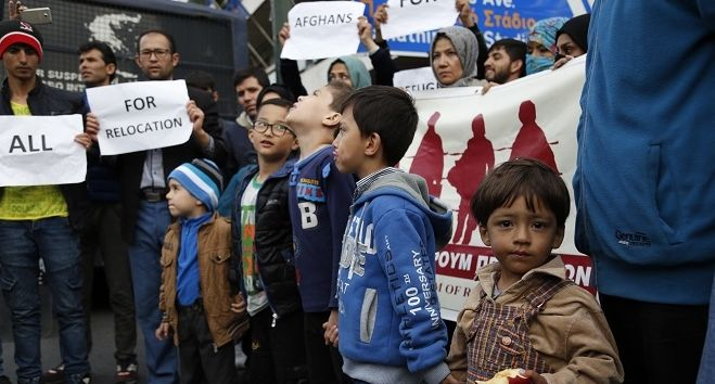 Φωτό αρχείου: Πορεία Αφγανών από την πλατεία Βικτωρίας στα γραφεία της Ευρωπαϊκής Επιτροπής στη Βασιλίσσης Σοφίας
