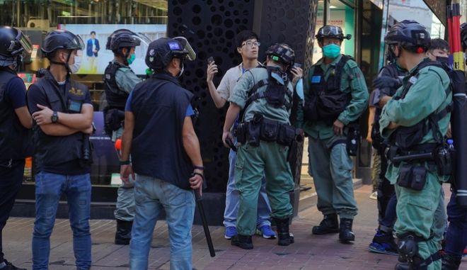 Διαμαρτυρία στο Χονγκ Κονγκ για τον νόμο εθνικής ασφάλειας