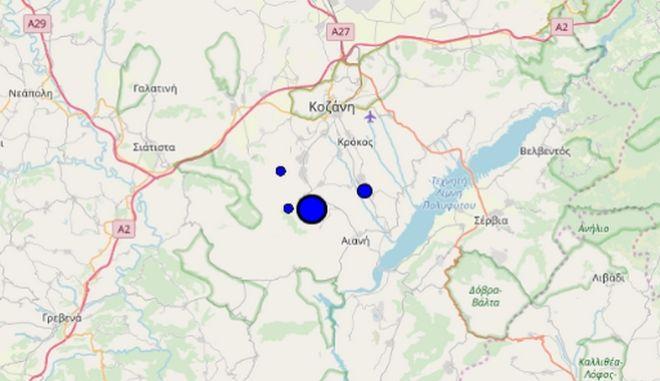 Σεισμός στην Κοζάνη
