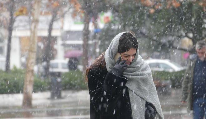 Χιόνι στην Λάρισα