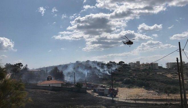Εικόνα από τα πρώτα λεπτά της φωτιά στο Λαγονήσι