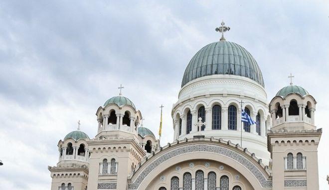 Στιγμιότυπο από την Εκκλησία του Αγ. Ανδρέα, πολιούχου της Πάτρας.
