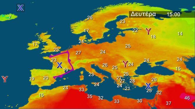 Ο καιρός στην Ευρώπη