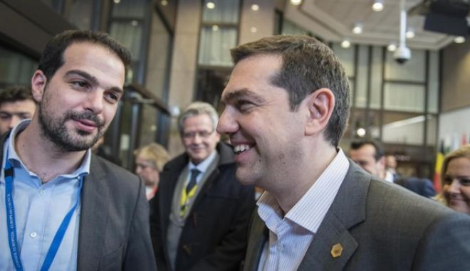 Mr. Tsipras after the 8-membered meeting. Statement to the press at the entrance of the Council's building.