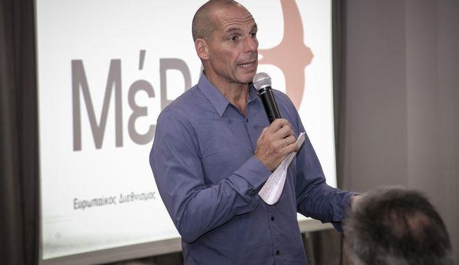 Ο Γιάνης Βαρουφάκης παρουσιάζει στο Ηράκλειο το εκλογικό πρόγραμμα του ΜέΡΑ25