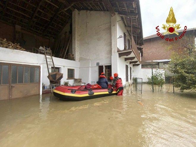 Πλημμύρες στο Πιεμόντε της Ιταλίας