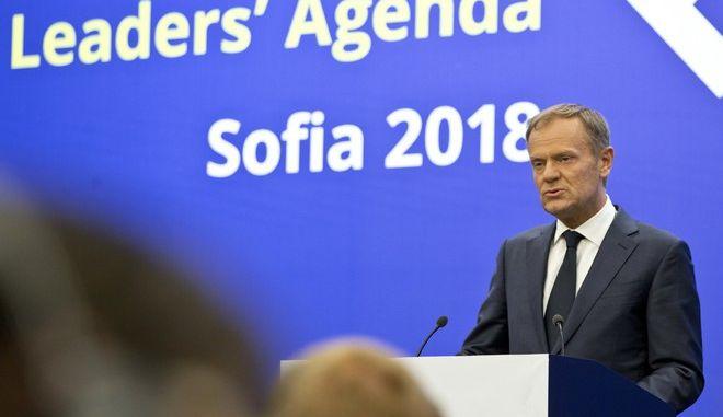 O πρόεδρος του Ευρωπαϊκού Συμβουλίου, Ντόναλντ Τουσκ