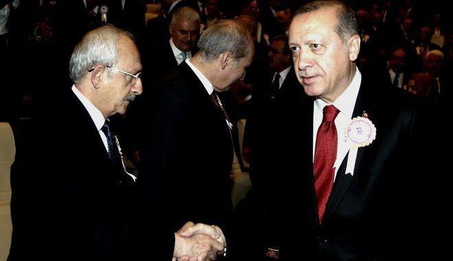 Ο Tayyip Erdogan και ο Kemal Kilicdaroglu