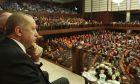 Ο Ρετζέπ Ταγίπ Ερντογάν στην τουρκική βουλή