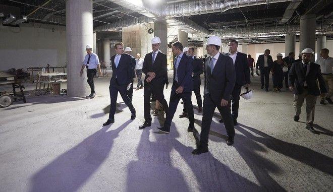 Επίσκεψη Μητσοτάκη στα έργα επέκτασης του αεροδρομίου