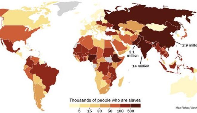 Ο παγκόσμιος χάρτης της δουλείας. Ζουν ανάμεσά μας 30 εκατ. σκλάβοι