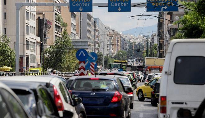 Στιγμιότυπο από κίνηση στη Λεωφόρο Συγγρού