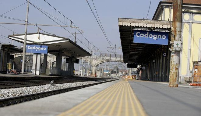 Πλατφόρμα τραίνου στην Ιταλία