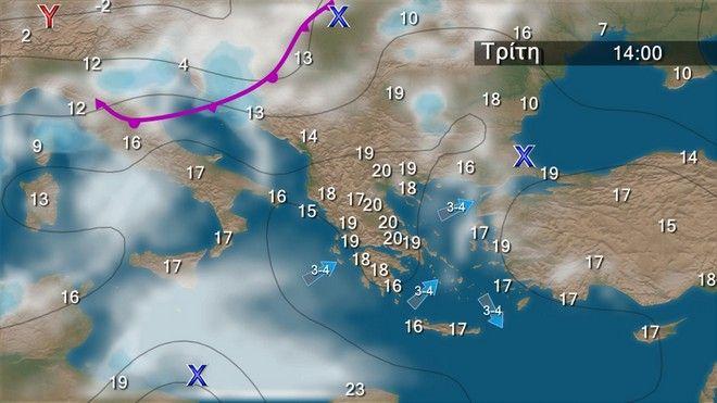 Καιρός: Έρχονται βροχές και πτώση θερμοκρασίας από Τετάρτη