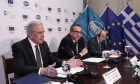 Ο Δημήτρης Αβραμόπουλος κατά την υπογραφή νέων συμφωνιών του Σχεδίου Juncker για τη χρηματοδότηση ελληνικών μικρομεσαίων επιχειρήσεων