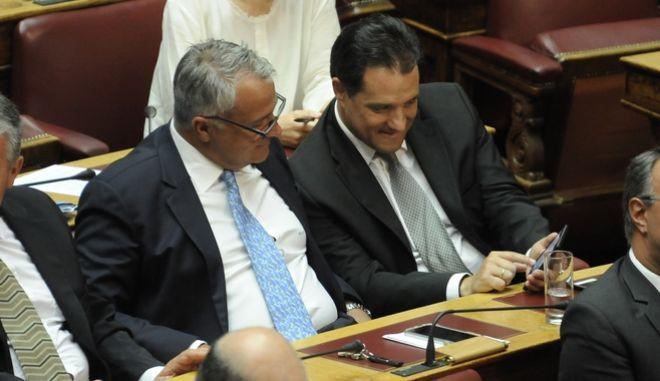 Ο Μάκης Βορίδης και ο Άδωνις Γεωργιάδης