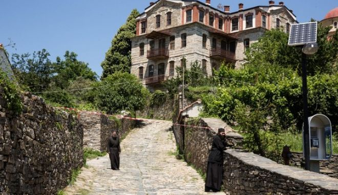 Karyes, Mount Athos on May 29, 2016. / ,  , 29  2016.