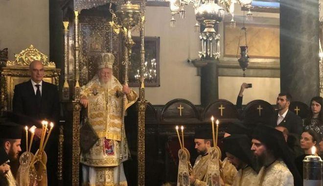 Επίσκεψη Δένδια στο Φανάρι - Συνάντηση με τον Οικουμενικό Πατριάρχη