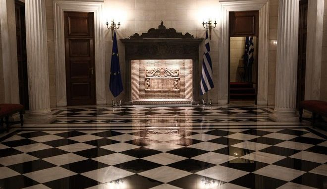Meeting between the greek Prime Minister, Alexis Tsipras and the regional governor of Atiica, Rena Dourou, in Athens, on Apr. 28, 2015 /    ,        ,  , 28 , 2015