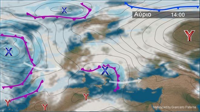 Βροχές, καταιγίδες, χαλαζοπτώσεις και ισχυροί άνεμοι την Τετάρτη