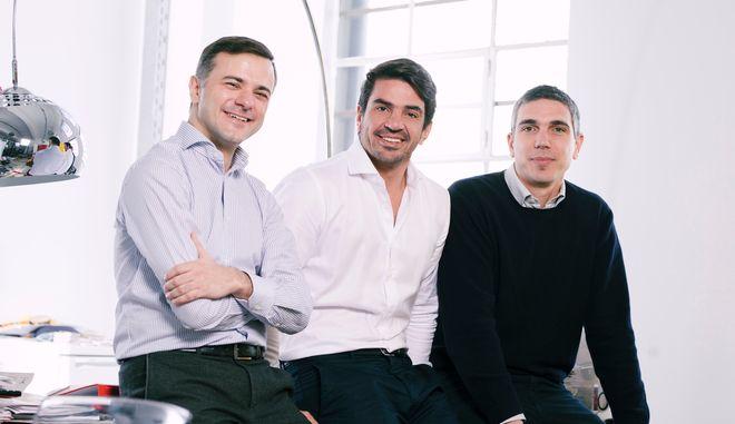 Οι τρεις συνιδρυτές της Prosperty. Nίκος Πατσιογιάννης, Αντώνης Μαρκόπουλος και Αντώνης Δεσποτάκης.