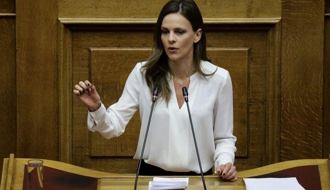 """Η Έφη Αχτσιόγλου στη συζήτηση στην Ολομέλεια της Βουλής του σχεδίου νόμου του Υπουργείου Δικαιοσύνης """"Τροποποιήσεις Ποινικού Κώδικα, Κώδικα Ποινικής Δικονομίας"""""""