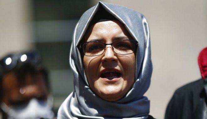 Η Χατιτζέ Τζενγκίζ, χήρα του Τζαμάλ Κασόγκι